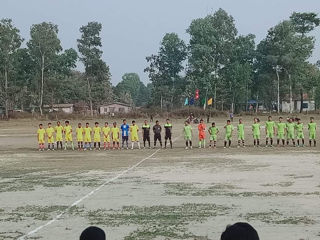 केर्खामा फुटबलको पहिलो चरणमा  वडा न.३, को जीत