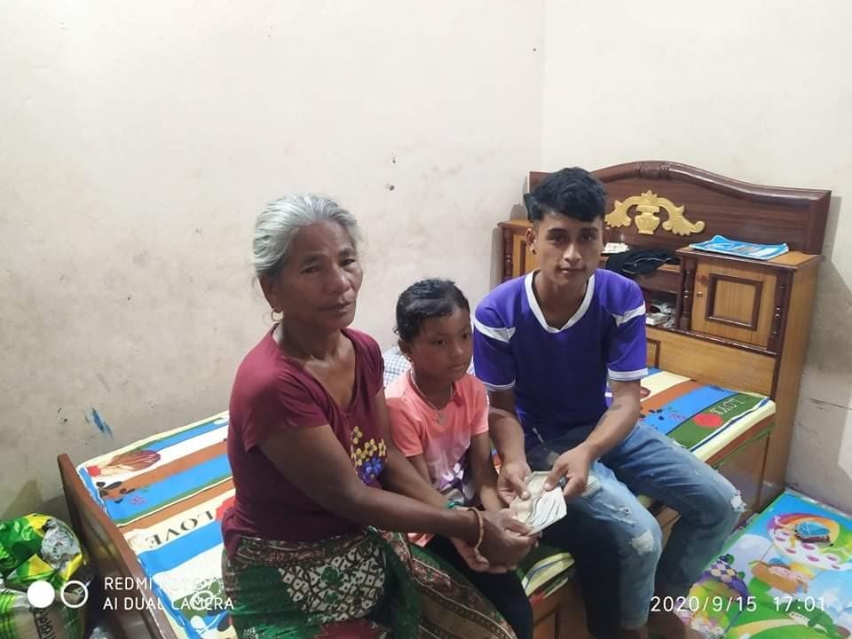 लमजुङका डोल्मा लाई सलिसाम कतार द्धारा आर्थिक सहयोग