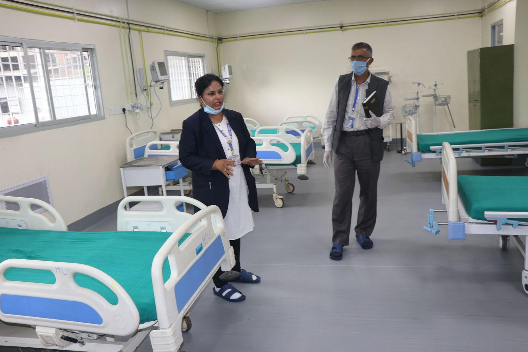 भक्तपुर अस्पतालमा सघन उपचार कक्ष