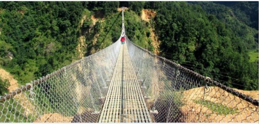 गैरी–बरबोट जोड्ने झोलुङ्गे पुल निर्माण