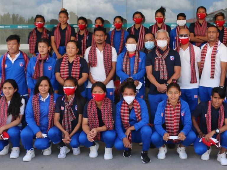 नेपाली महिला फुटबल टोली स्वदेश फिर्ता !
